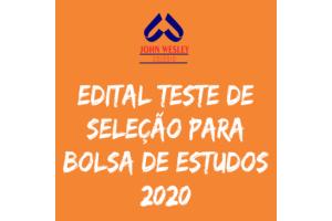 EDITAL TESTE SELEÇÃO 2020